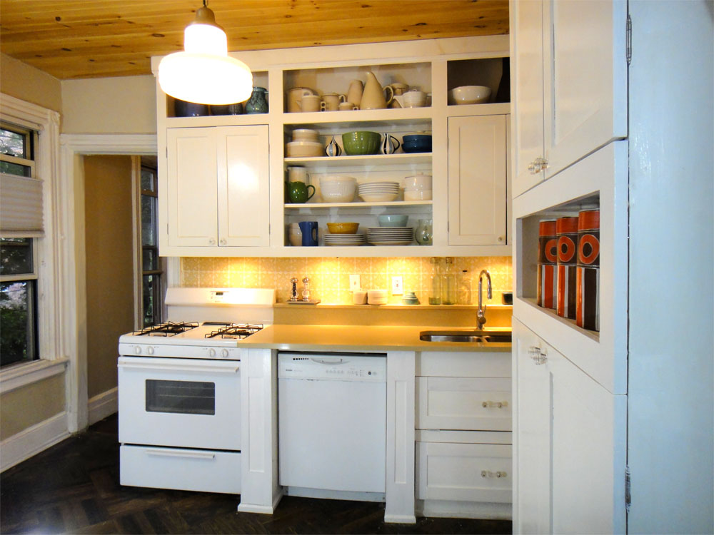 Kitchen cabinets for small spaces afreakatheart for Small kitchen cabinets